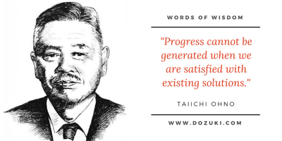 Taiichi Ohno quote
