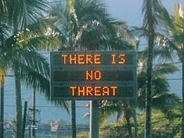 Hawaii false missile alert sign