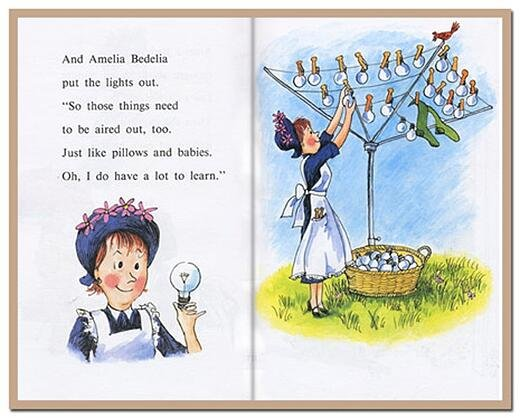Amelia Bedelia struggles to understand idioms