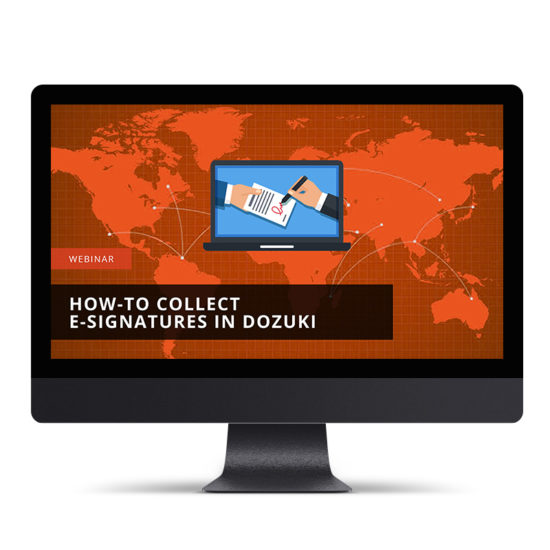 Collecting E-signatures in Dozuki