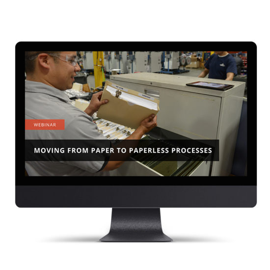 Moving From Paper to Paperless Processes