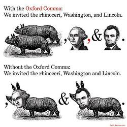 Illustrated difference of the Oxford comma
