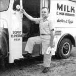 Milk man from 1950s