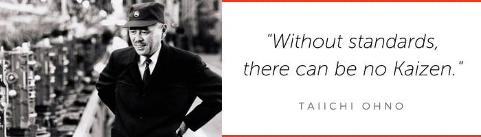 Taiichi Ohno Kaizen quote