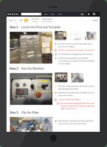 Dozuki-Manufacturing-Training-Interface-Tablet
